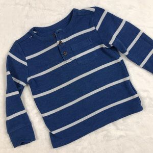 Blue Striped Long Sleeve Thermal